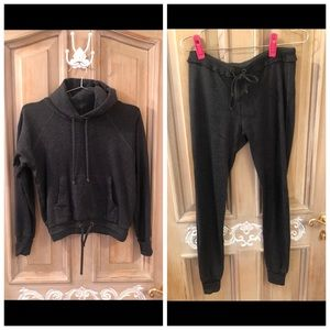 Louis Vuitton hooded sweatshirt and jogger pants